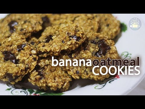 Healthy and Delicious BANANA OATMEAL COOKIES with 3 Ingredients