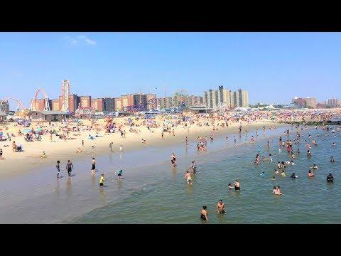 Coney Island Beach, New York City 4K HD