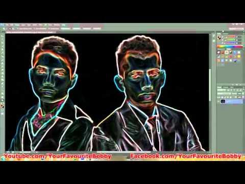 Photoshop CS6 - Glowing Edges Effect