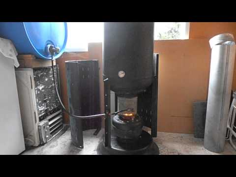 Drip fed waste oil heating free