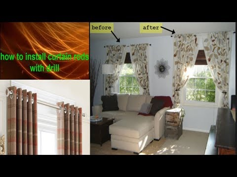 how to hang a curtain rod from the ceiling and walls ! best maintenance companies in dubai