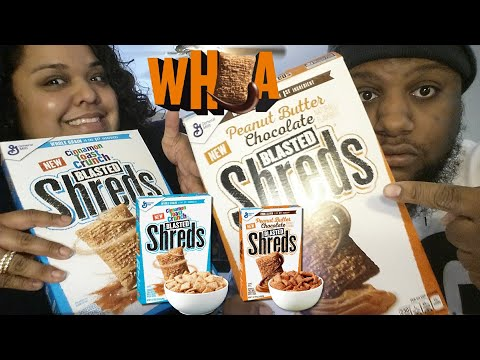 Cinnamon Toast Crunch Blasted Shreds cereal & Peanut Butter Chocolate Blasted Shreds REVIEW
