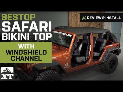 Jeep Wrangler (2010-2017 JK) Bestop Safari Bikini Top w/ Windshield Channel Review & Install