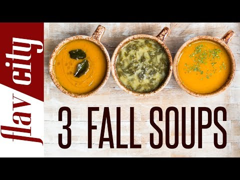 3 Healthy Soup Recipes For Fall - Vegetarian & Gluten Free