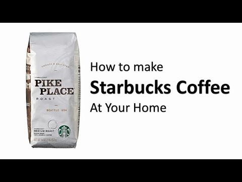 How To Make Fresh  Starbucks Coffee at Home