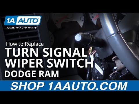 How to Install Replace Turn Signal and Wiper Switch Lever 2002-08 Dodge Ram BUY PARTS AT 1AAUTO.COM