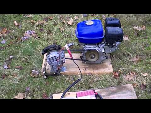 Alternator Generator with 5.5HP Horizontal drive motor