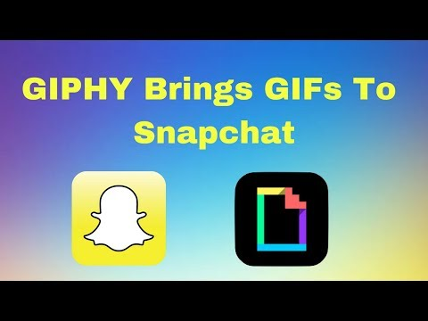 Snapchat: How To Add GIFs To Your Snaps! | Update 2018