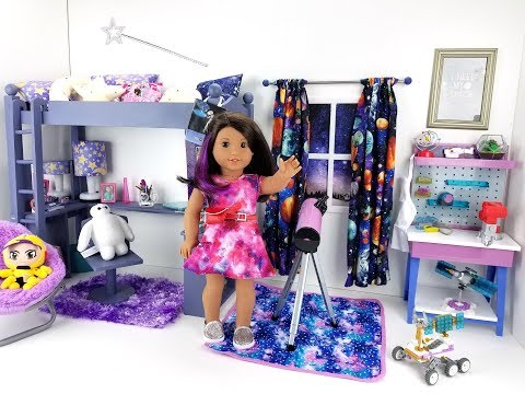 AMERICAN GIRL LUCIANA VEGA SPACE BEDROOM SET UP