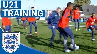 Nutmeg the Manager! Ademola Lookman Nutmegs Aidy Boothroyd | U21 | Inside Training