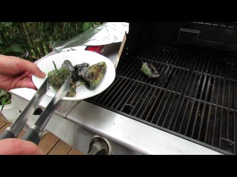 From Garden to Grill: Grilled Poblano Peppers - The Rusted Garden 2013