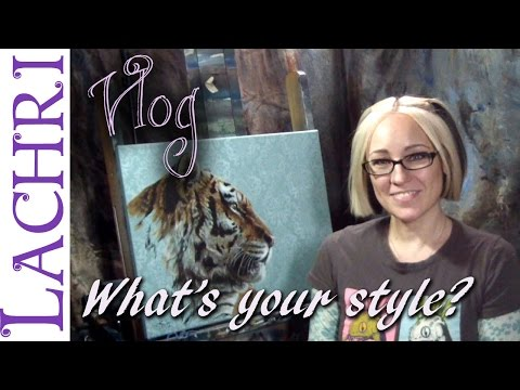 Artist vlog - finding your artistic style - Art tips w/ Lachri
