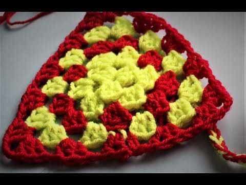 Crochet Granny Triangle For Bunting