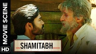 Face off between Dhanush & Amitabh | Shamitabh | Movie Scene