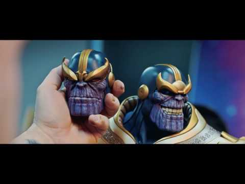 Behind the scenes of Sideshow's Thanos on Throne Maquette EX