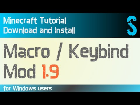 MACRO / KEYBIND MOD 1.9 minecraft - how to download and install (with forge on Windows)