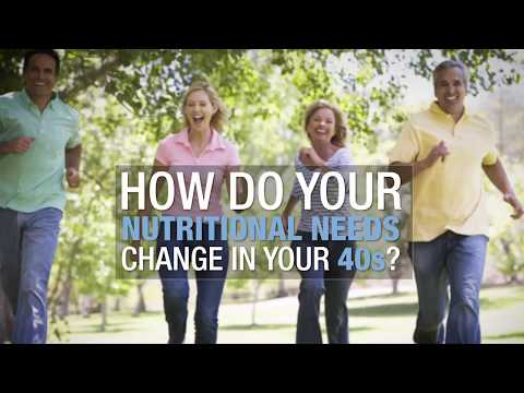 How do your nutritional needs change in your 40s?
