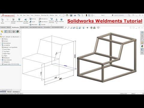 Download Solidworks Weldments tutorial steel structure