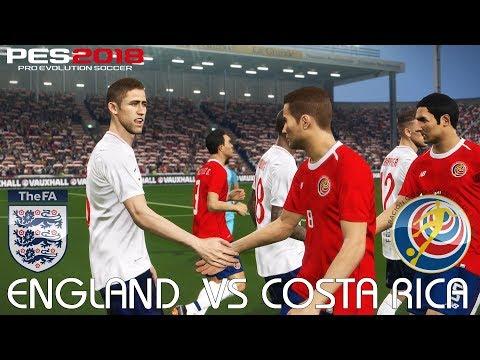 PES 2018 (PC) England v Costa Rica @ Elland Road | INTERNATIONAL FRIENDLY | 7/6/2018 | 1080P 60FPS