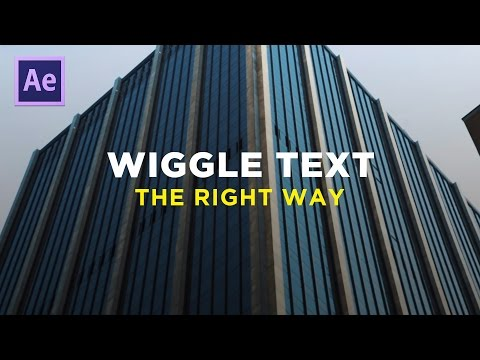 WIGGLE TEXT - Adobe After Effects (Sam Kolder Inspired Tutorial)