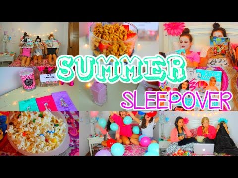 Summer Sleepover!! Essentials, What To Do & DIY's