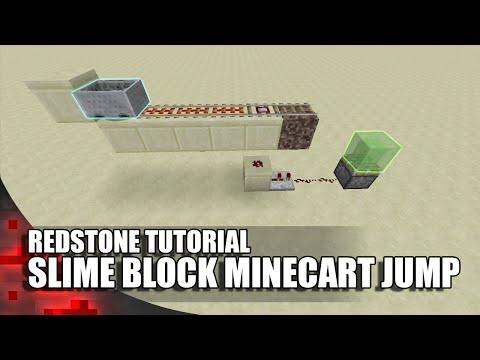 Minecraft: Slime Block Minecart Jump!