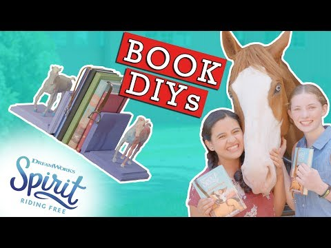 Book DIYs! Bookmarks & Bookends Inspired By Spirit Riding Free! | THAT'S THE SPIRIT