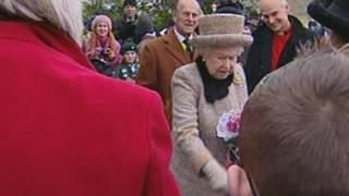 Queen Fail: Queen Elizabeth struggles to break free from over-zealous fan in Sandringham