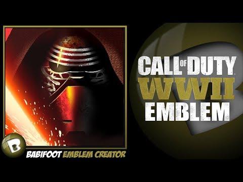 COD WW2 Emblem Tutorial - Kylo Ren StarWars
