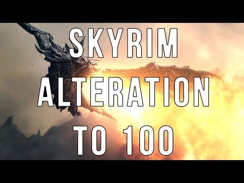 How to Level up Alteration in Skyrim fast to 100 in seconds! FASTEST WAY TO LEVEL UP CHARACTER!