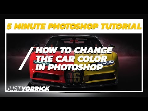 How To Change The Car Color In Photoshop - 5MPT