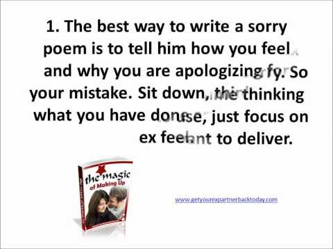 Tips to Get an Ex Boyfriend Back – How to Write Sorry Poems For a Boyfriend & Tell Him What You Feel