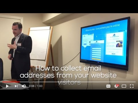 How to collect email addresses from your website visitors