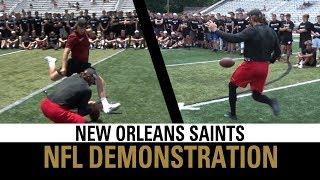 NFL Kicking & Punting Demonstration | New Orleans Saints