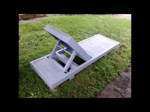 Custom-made Adjustable Deck Chair/lounger.