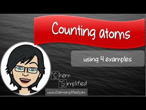How To Count atoms in a formula - Dr K