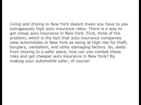How Can You Get Cheap Auto Insurance In New York? 1177669