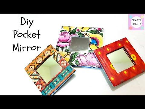 DIY Pocket Mirror with cardboard/DIY Espejo
