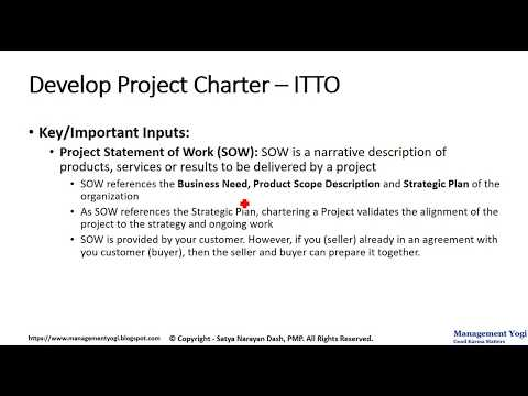 PMP LIVE LESSONS - Guaranteed Pass: Video 5.25 - Develop Project Charter-Inputs (Integration)
