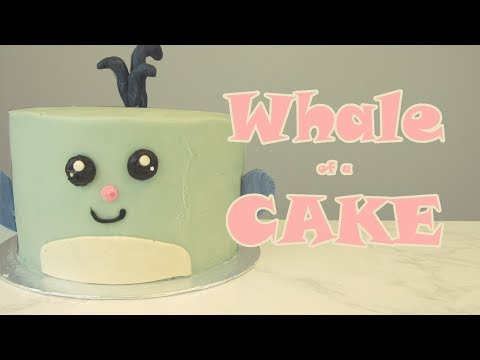 A WHALE OF A CAKE! - My cute little blue whale cake tutorial | Sweetwater Cakes