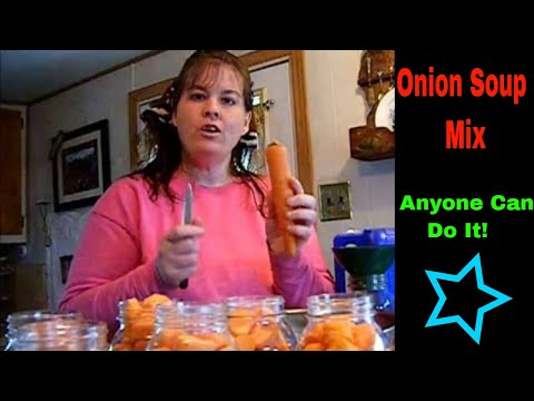 Canning Carrots with onion soup mix