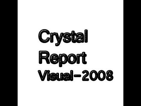 Create Crystal Report Visual studio 2008 Basic