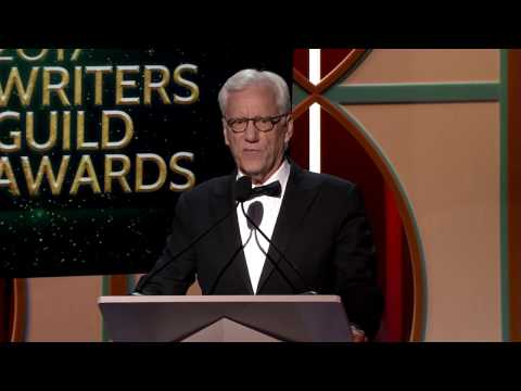 James Woods presents the 2017 Writers Guild Laurel Award for Screenwriting to Oliver Stone
