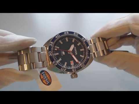 Men's Fossil Breaker Diver's Stainless Steel Watch FS5048