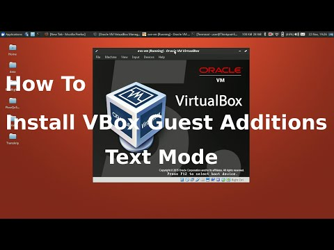 Install Virtualbox Guest Additions on linux