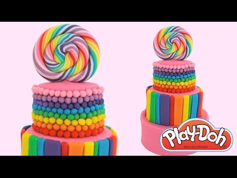 Play-Doh How to Make a Candy Cake * Play Dough Art * Creative Fun for Kids * RainbowLearning
