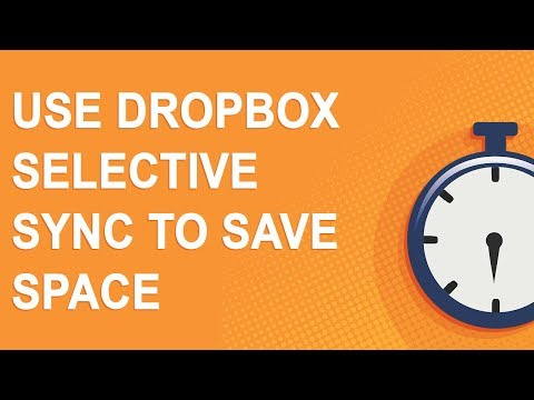 Use Dropbox Selective Sync to save space (2018)