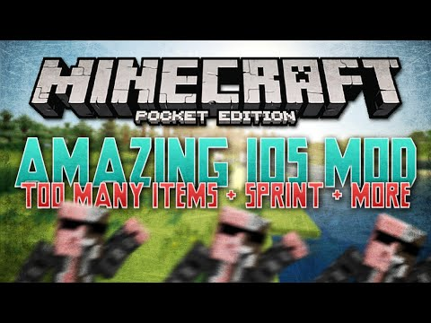 Too Many Items, Super Jump, Sprinting + More - iOS Mod for MCPE 0.11.0 - Minecraft Pocket Edition