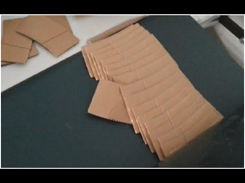 Greece Ripple Corrugated Paper Cup Sleeve Fold & Gluing Machine 咖啡杯套视频