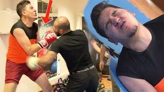 بطل مصارعة وفنون قتالية يقضي على عدنان في عقاب دوري الأبطال  🔥